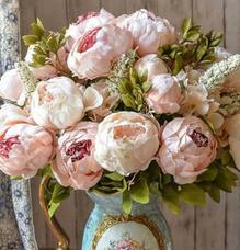 Artificial vintage peony bouquet artificial flowers vases artificial vintage peony bouquet mightylinksfo